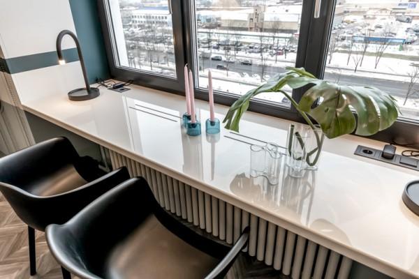 Стол подоконник из искусственного камня Staron 1500х500