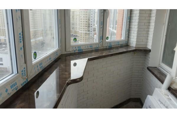 Подоконник на балкон из искусственного камня Hi-macs 1800х400