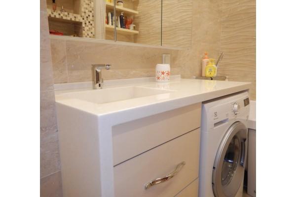Столешница на стиральную машину из искусственного камня Corian 1400х600