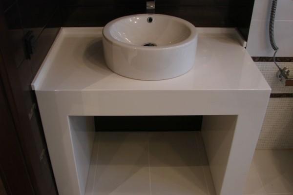 Столешница для ванной из акрилового камня Hi-Macs by LG 1000х600