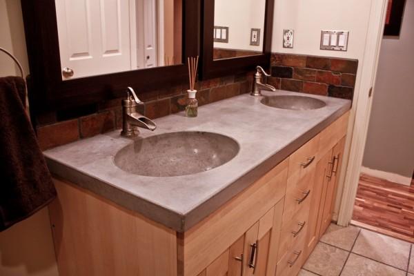 Столешница для ванной из акрилового камня Hi-Macs by LG 1200х600